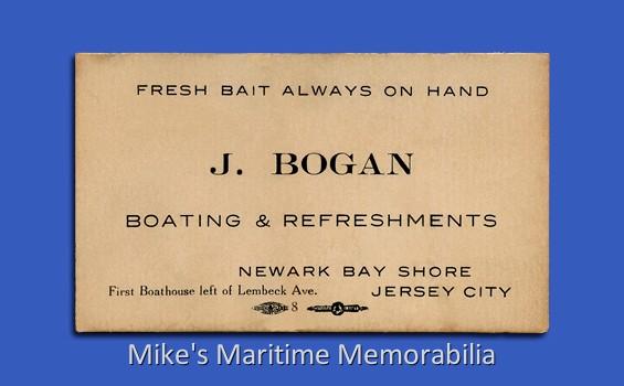 Bogans bait shop business card jersey city nj 1928 reheart Images
