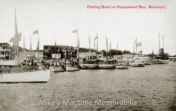 Sheepshead bay fleet brooklyn ny 1914 for Sheepshead bay fishing boats